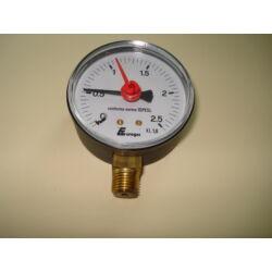 """Nyomásmérő radiál M1/4"""" 0-2,5 bar d:52mm"""