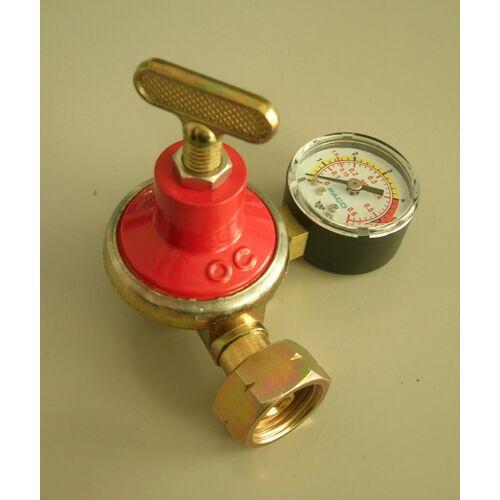 Állítható gáznyomásszabályozó 0-4bar 10kg/h nyomásmérővel